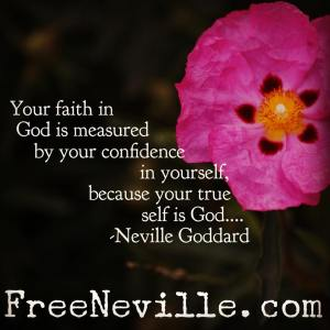 your faith in god is measured