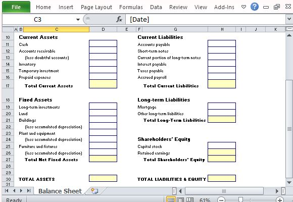 Asset Statement Template balance sheet doesn t have to be hard – Asset and Liability Statement Template