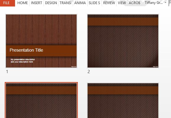 Wood Design PowerPoint Templates