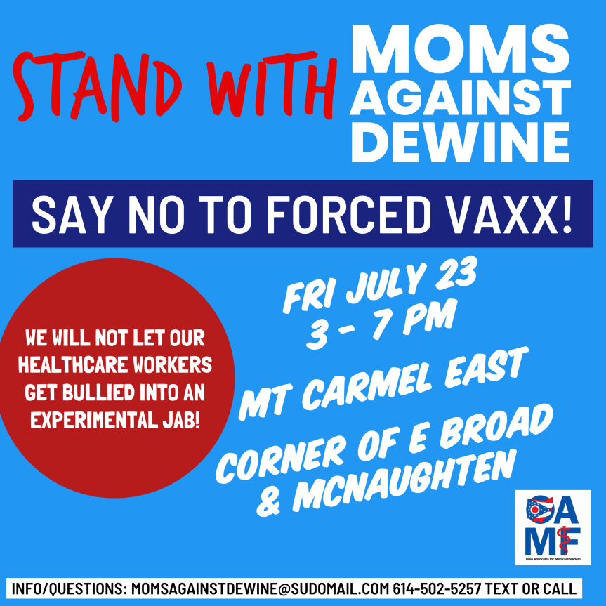 FRANKLIN:  Stand Up Against Mandatory Vaxx Protest