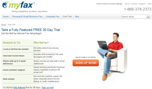MyFax Free Fax Trial Online