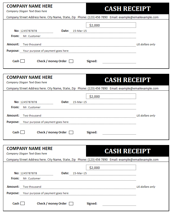Bill Receipt Template cash and sales invoices free free word 39 – Company Receipt