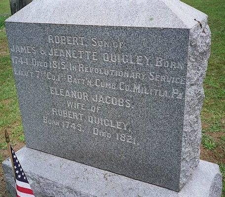 Headstone of Robert Quigley