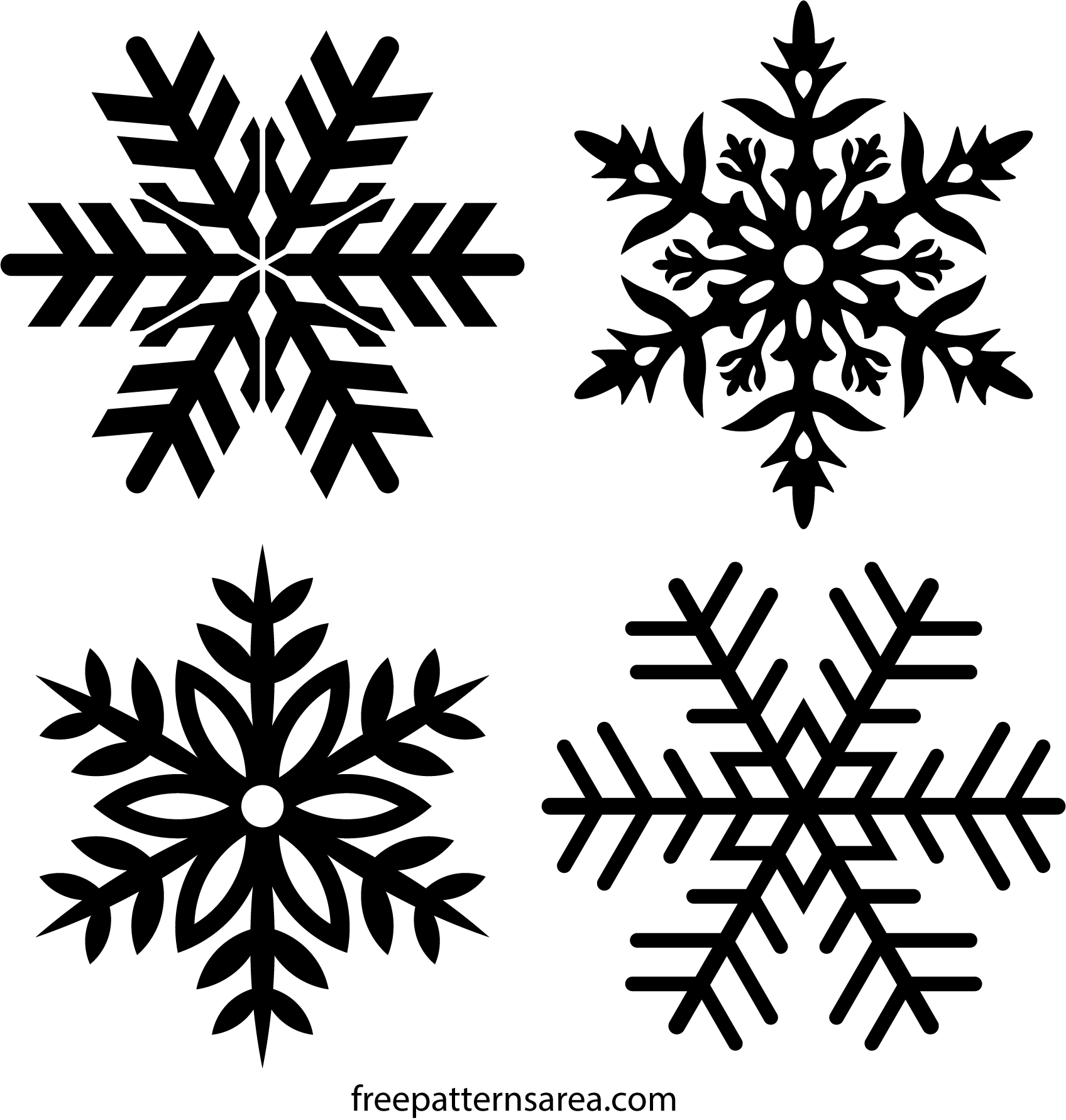 Free Snowflake Stencil Amp Clipart Vector Drawings
