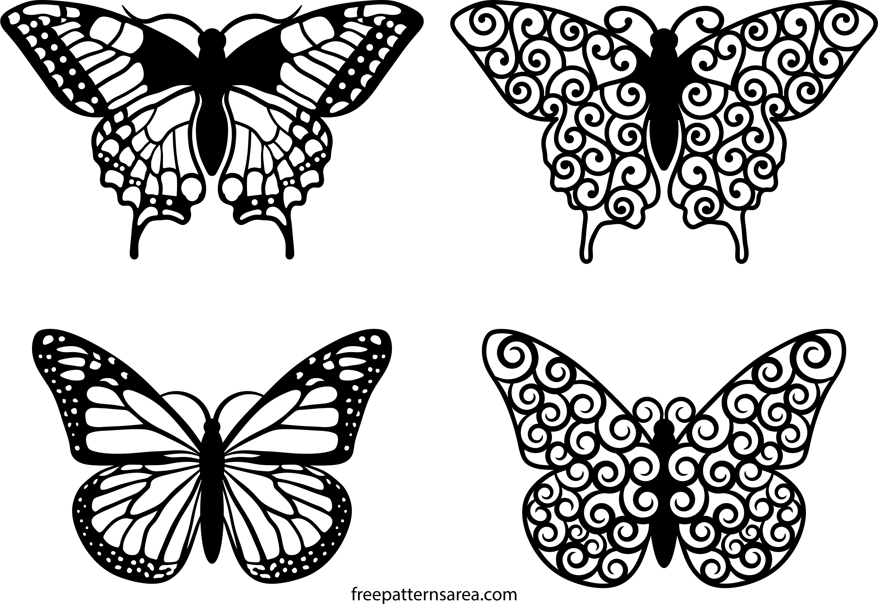 Butterfly Clipart Vector Art Files