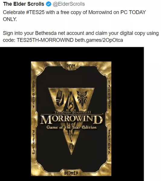 Elder Scrolls 3 MORROWIND Full PC Game Free Download & Info