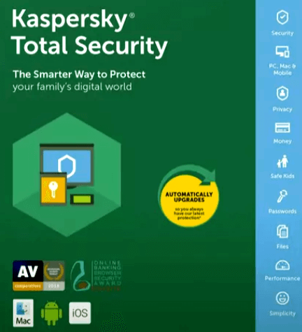 Kaspersky Total Security 2019 Activation Code License Free for 92 Days