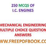 I.C. Engines – Mechanical Engineering Multiple choice Questions Answers
