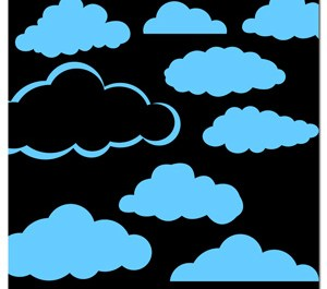Comic Clouds Shapes