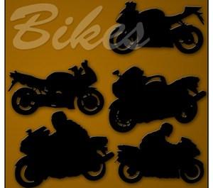 Motorbikes Silhouettes