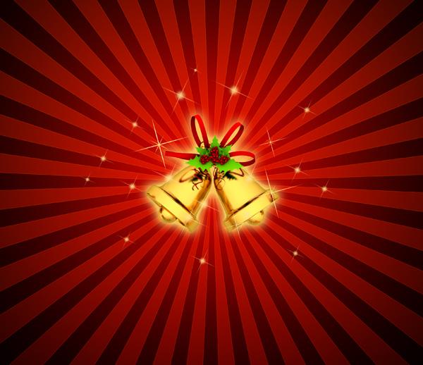 Christmas Bells PSD Backgrounds Part – 5