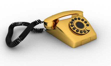 Retro Golden Telephone