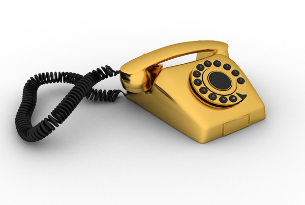 Retro Golden telephone – Free Picture
