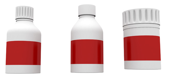 Medicine Bottles PSD and Picture