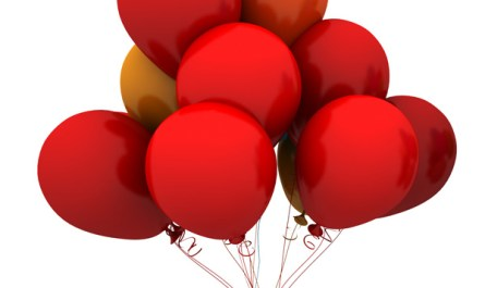 Red Christmas Balloons
