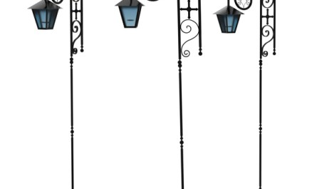 Wrought Iron Signage Street Lamps