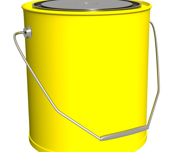 Yellow Bucket psd and Picture