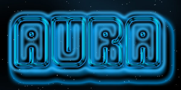 aura lights text
