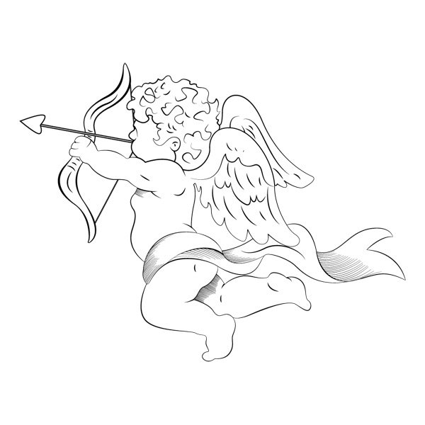 cupid vectors brushes and PNG