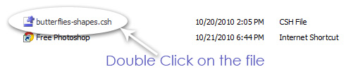 click on addones