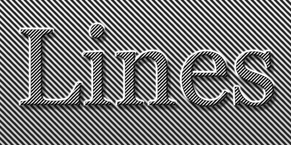 lines text style