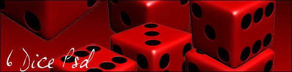 red dice psd and png