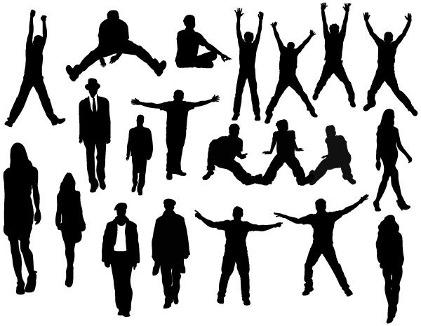 silhouettes shapes people
