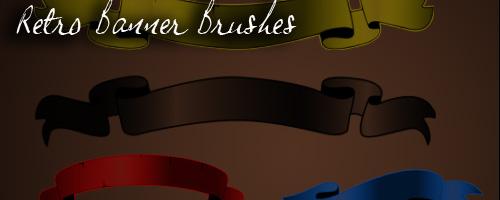 retro banner brushes