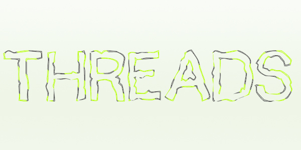 threads text effect