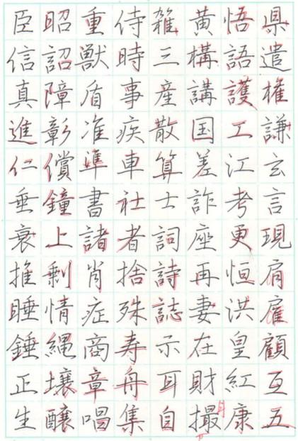 ペン字漢字行書手本