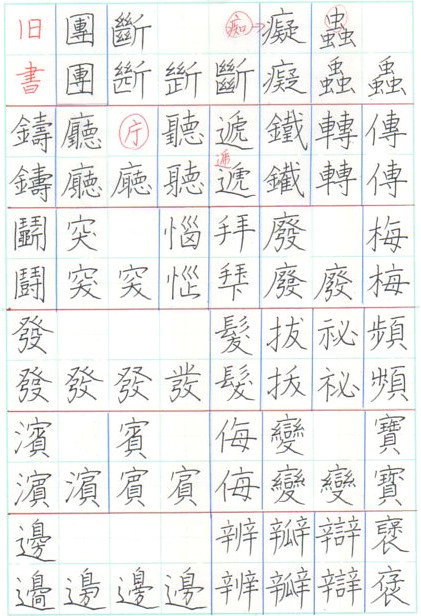 旧字体 書写体 ペン字