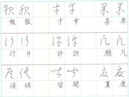 似てる字 漢字草書