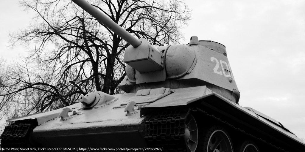 Image of a Soviet tank representing soviet war performance