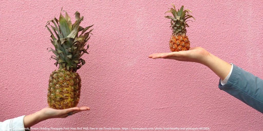 Person Holding Pineapple Fruit Near Red Wall Representing Optimal Recommendation System