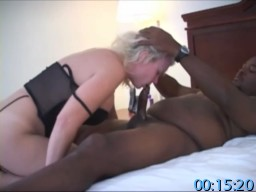 Homemade Amateur Cuckold Fetish Video - Hot Blonde Wife Gets Fucked And Creampied By Two Black Guys In Front Of Her Cuckold Hubby.
