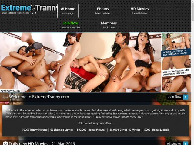 ExtremeTranny.com SiteRip - Real Shemales Having Dirty Sex, Threesomes With Two Trannies And One Guy, Ladyboys Fucked By Sexy Women