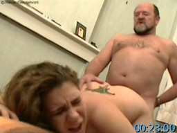 OldPerverts.com SiteRip - Lucky Old Pervert Catches Cute Chubby Teen Masturbating In Toilet And Manages To Seduce Her Into Sucking And Fucking.
