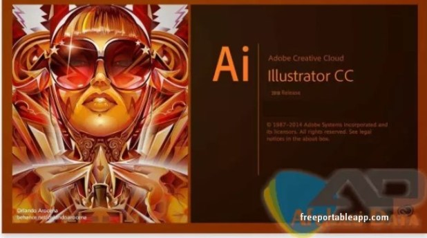 Adobe illustrator CC 2018 portable