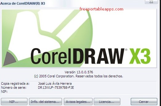 CorelDraw X3 Portable Free Download