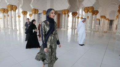 Photo of فيديو.. ايفانكا ترامب في مسجد الشيخ زايد