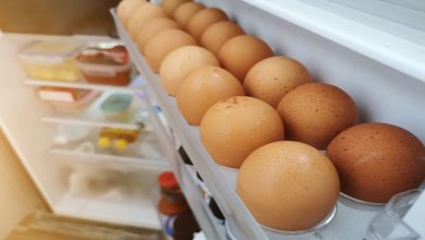 صورة إليكم مخاطر حفظ البيض في باب الثلّاجة