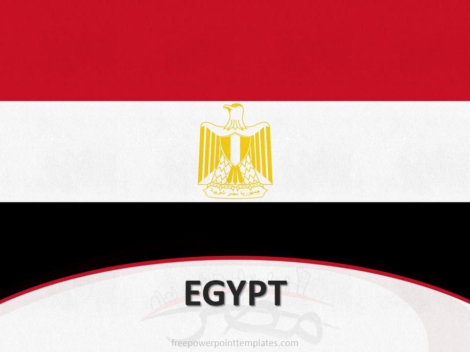 10105 Egypt Flag Template 1 Free PowerPoint Templates