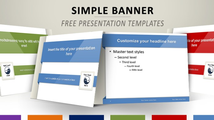 Simple Banner Free Template PowerPoint Impress