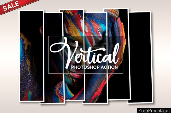 Vertical Panel Photoshop Action