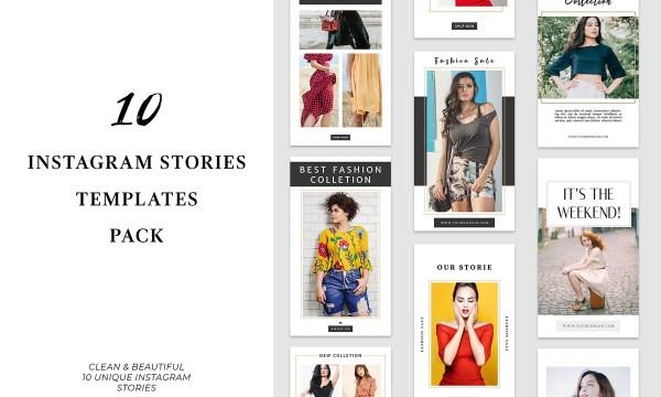 10 Instagram Stories Templates Pack 3504319