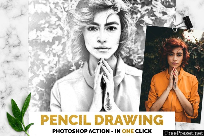 Pencil Drawing Photoshop Action 3385746