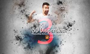 3D Dispersion Photoshop Action 3631399