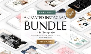 BUNDLE ANIMATED Instagram Templates 3205811