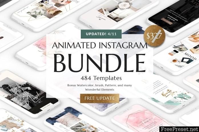 BUNDLE ANIMATED Instagram Templates 3205811