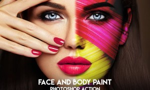 Face and Body Paint Photoshop Action 49XNUVT
